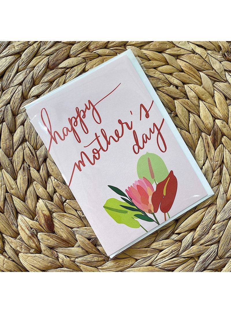 Phoenix Feathers Calligraphy Gift Mother's Day Bouquet Card Donut Gift Tag | Unique Handmade Gift Tags | Valia Honolulu Valia Honolulu