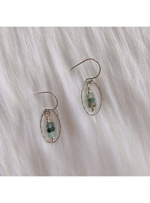 Prickly Pear Designs Jewelry SS Moss Aquamarine Earrings SS Moss Aquamarine Earrings | Unique Handmade Gemstone Jewelry | Valia Honolu Valia Honolulu