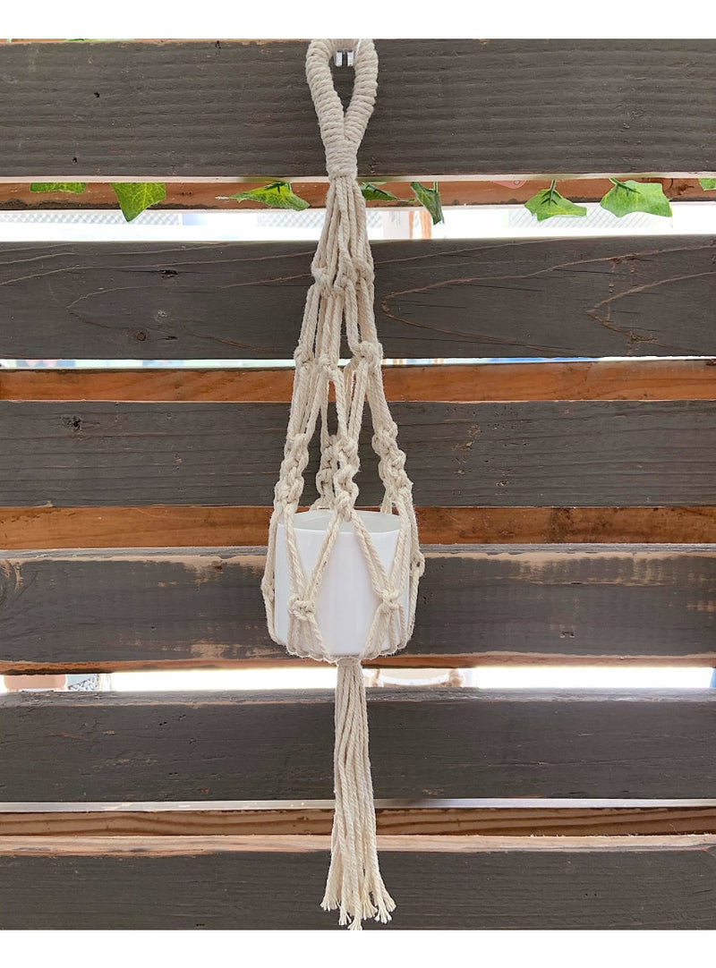 Soul of the Party Home Mini Macrame Plant Hanger Valia Honolulu