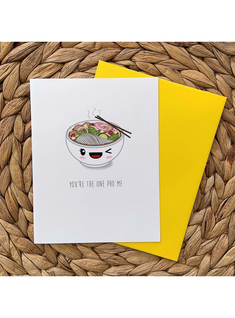 Tiny Hearts Gift You're the One Pho Me Card Honu Sticker | Sea Turtle Vinyl Sticker | Tiny Hearts at Valia Honolulu Valia Honolulu
