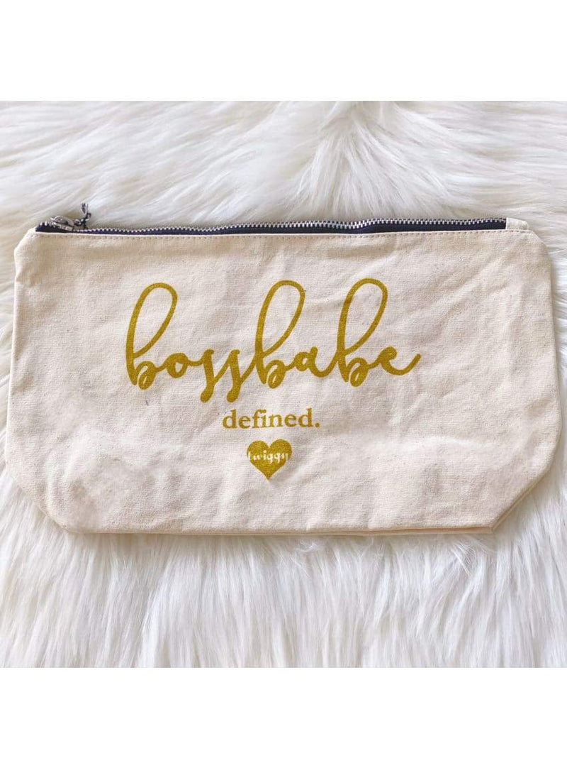 Boss Babe Pouch in Gold