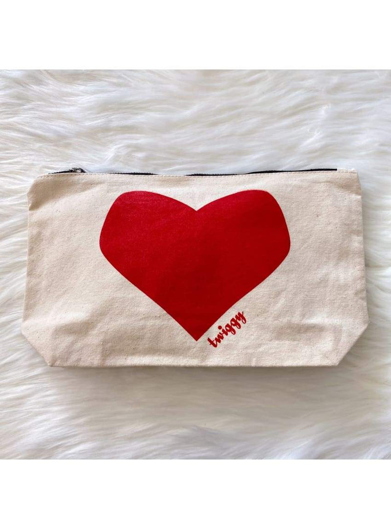 Heart Pouch in Red