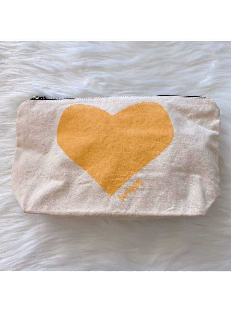 Heart Pouch in Yellow