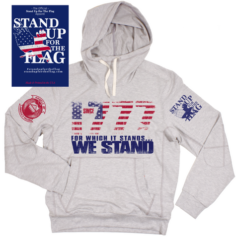 Since 1777 Stand Up For The Flag Hoodie Sweatshirt - Unisex XS - 2XL Sizes