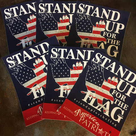 Stand Up For The Flag Bumper Sticker