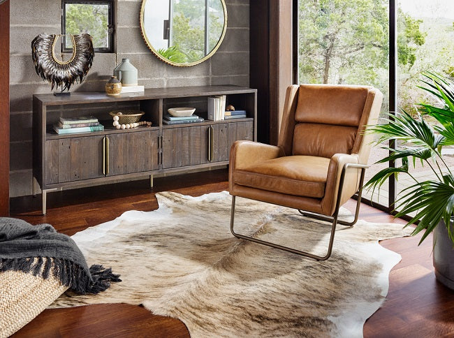 Brown leather chair - Shop Living Room Chairs & Chaise Chairs | Accent Chairs