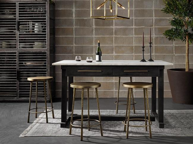Bar & Counter Stools - Bar & Counter Stools (Leather barstool, Wood, Swivel, Backless counter stool
