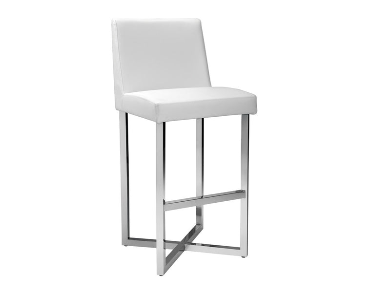 CHARLIZE BARSTOOL WHITE SET OF 2