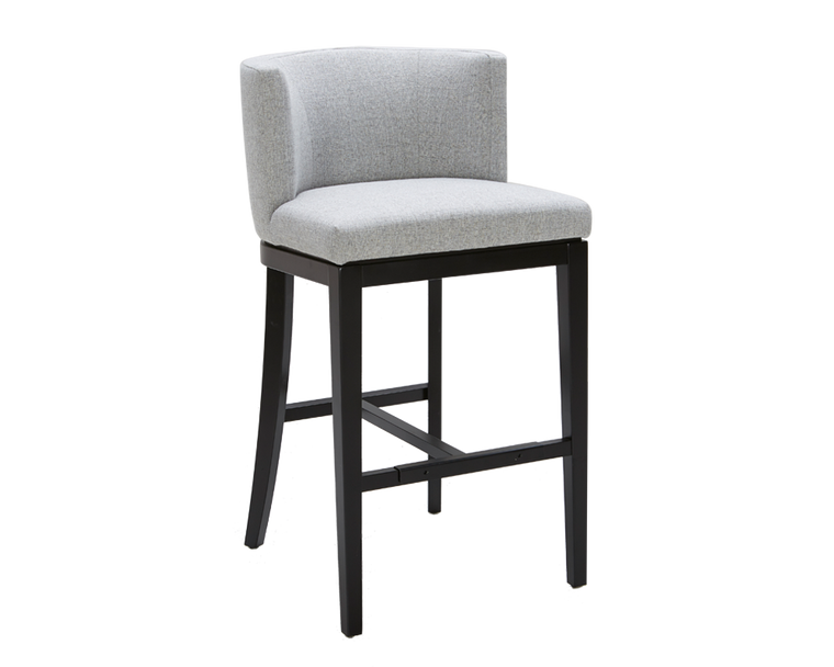 CHANDLER BARSTOOL MARBLE GREY FABRIC SET OF 2