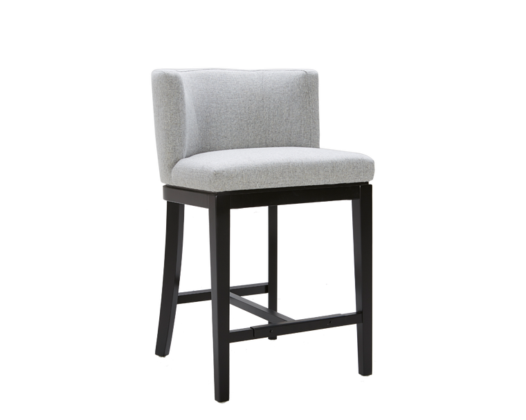 CHANDLER COUNTER STOOL MARBLE GREY FABRIC SET OF 2