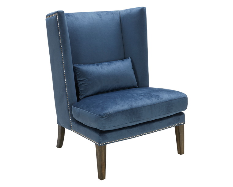 BEVERLY WING CHAIR INK BLUE