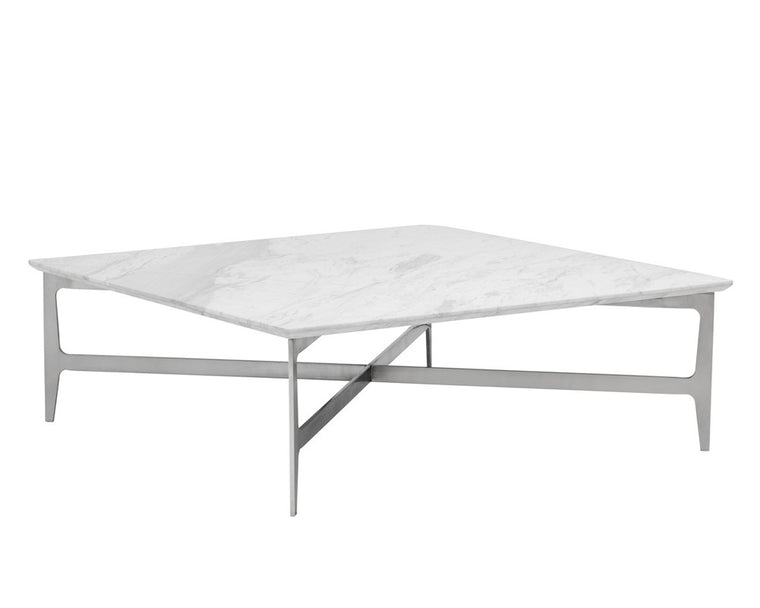 ALVAR SQUARE MARBLE COFFEE TABLE