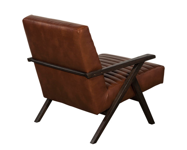 Haven lounge chair - saddle brown leather