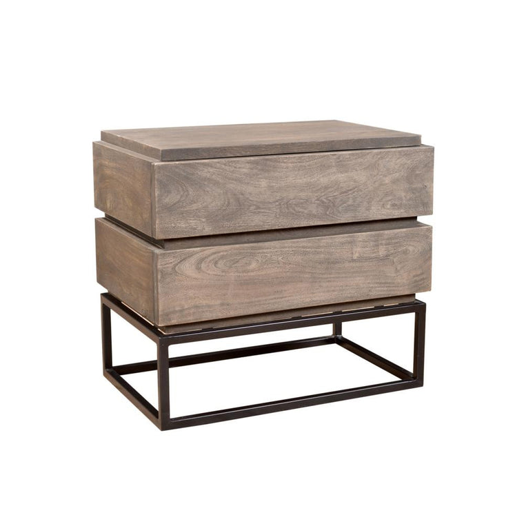 Yannick 2 Door rustic chic Nightstand
