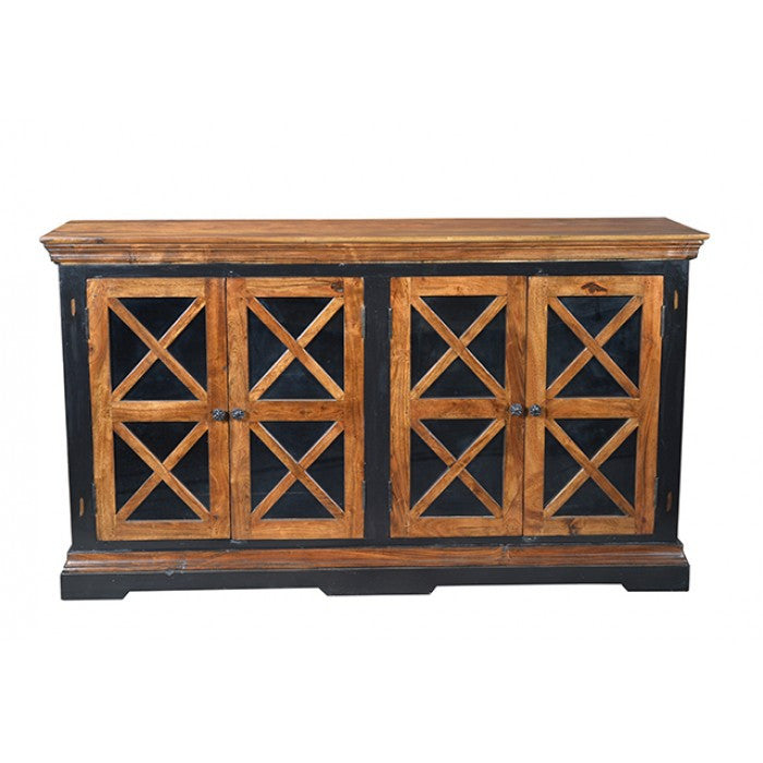 Tytus 4 Antiqued Glass Door Buffet