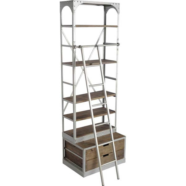 YEVA SINGLE RUSTIC BOOKCASE