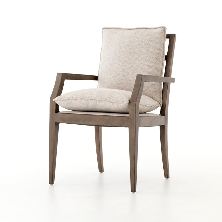 OTTO DINING ARM CHAIR, Noble Platinum, Monument Grey
