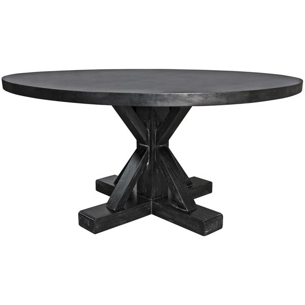 Fabio  Round Table, Hand Rubbed Black- 60
