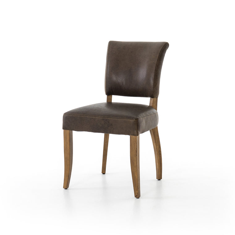 MIA CHAIR-PAMPAS CHARCOAL, WEATHERED OAK