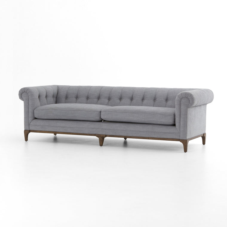 BROOKLYN SOFA LAKE PEWTER CHESTERFIELD INSPIRED