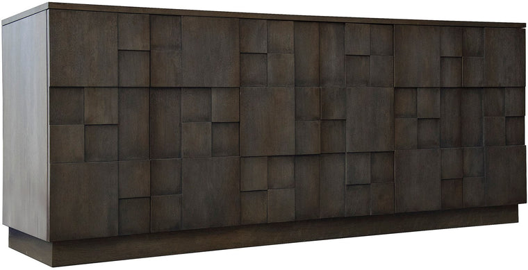 Aldrish 6 Door Sideboard Heavily Distressed, Reclaimed Oak