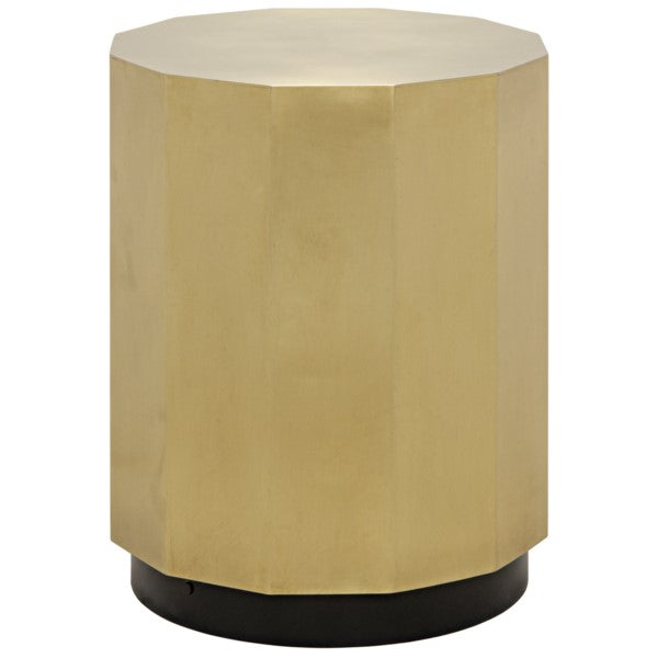 Tomer Side Table, Antique Brass