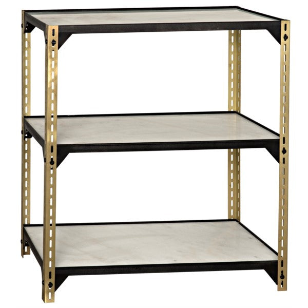Thanatos Shelving, Antique Brass Finish