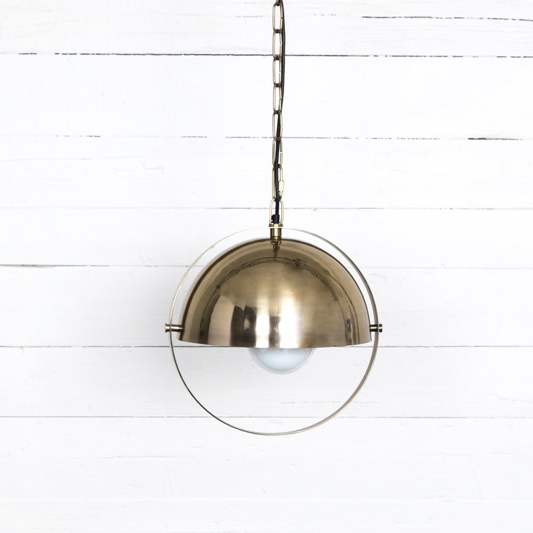 GARRETT PENDANT - BRUSHED BRASS