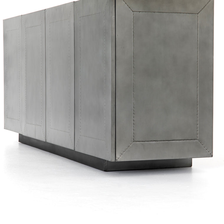 MACEY AGED ALUMINUM SIDEBOARD | NEW