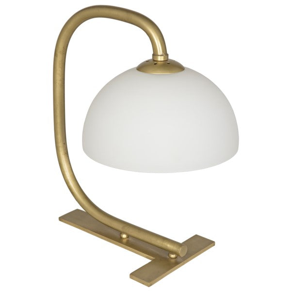Pavan Table Lamp, Antique Brass Finish