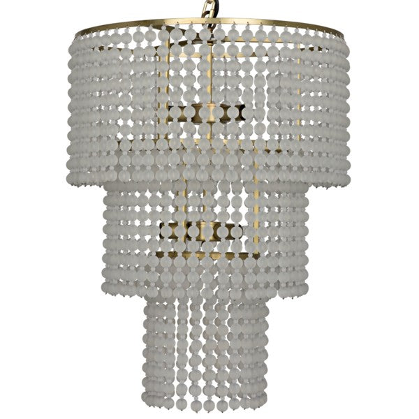 Louane Chandelier, Metal w/ Brass Finish