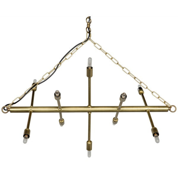 Laroux Chandelier, Metal w/Brass Finish