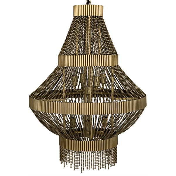 Jeslyn Chandelier, Metal w/Brass Finish