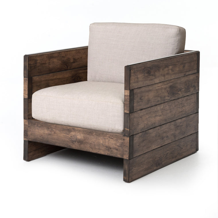 WAPI DISTRESSED OAK  CHAIR