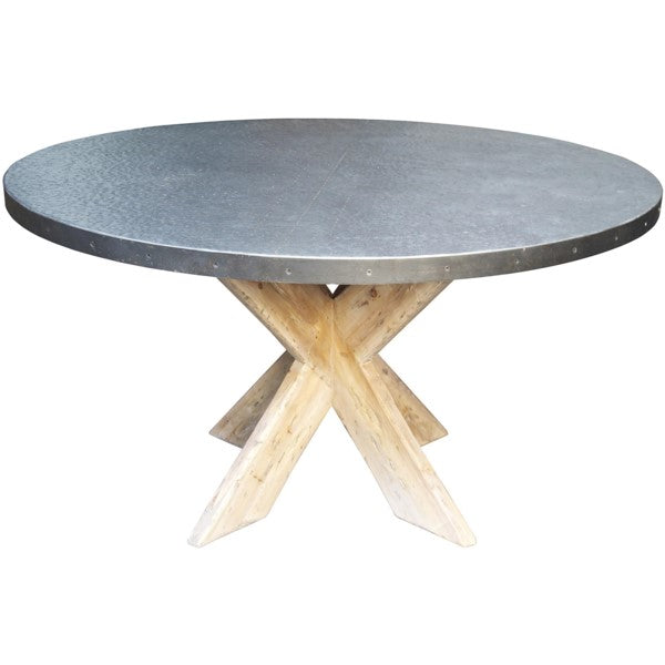 Geoff Table with Zinc Top, 54