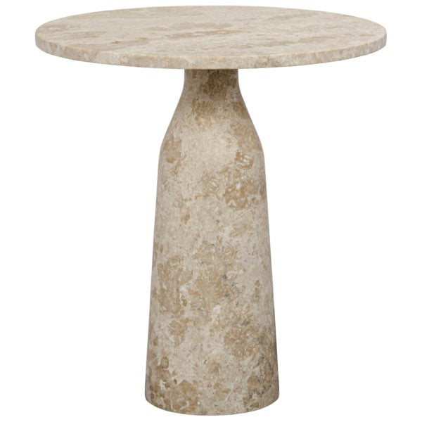 Wren Side Table, White Marble