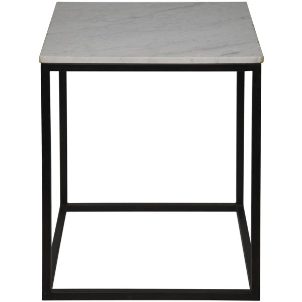 Teena Side Table, Large, Metal and Quartz