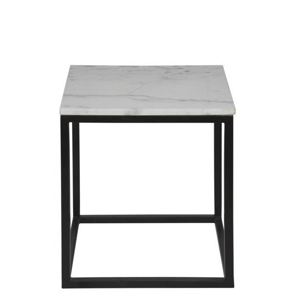 Teena  Side Table, Small, Metal and Quartz