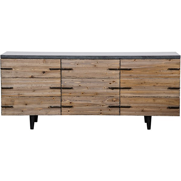 Sutler Sideboard, Old Elm and Stone