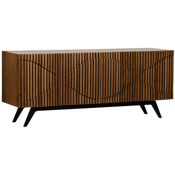 Agape Sideboard, Metal and Walnut