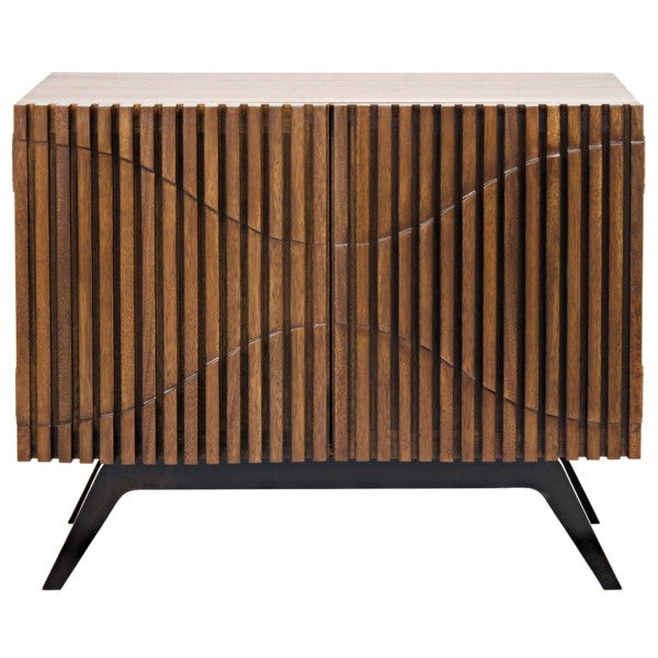 Agape  Single Sideboard, Walnut and Metal