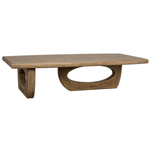 Hyram Coffee Table, Bleached Walnut