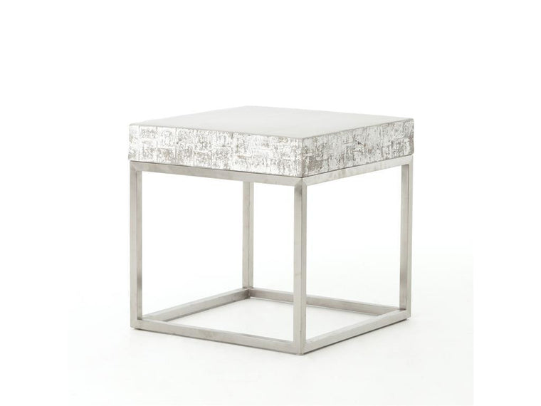 Alcina Concrete And Chrome End Table