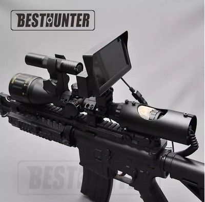 Night Vision Riflescope With Monitor and Flashlight