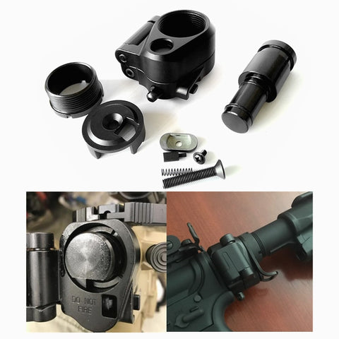 Airsoft Tactical AR Folding Stock Adapter For M16/M4 SR25 Series GBB (AEG)