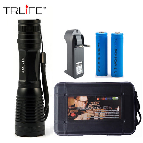 LED 6000 Lumens Zoomable Flashlight