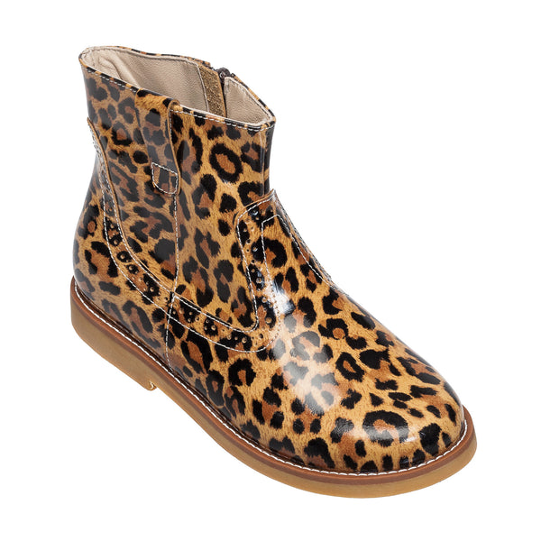 Madison Ankle Boot Patent Leopard