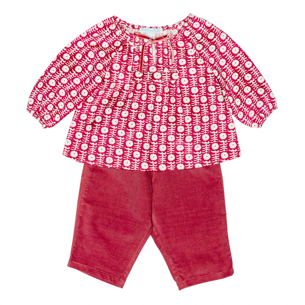 Cherry Tunic Baby Set