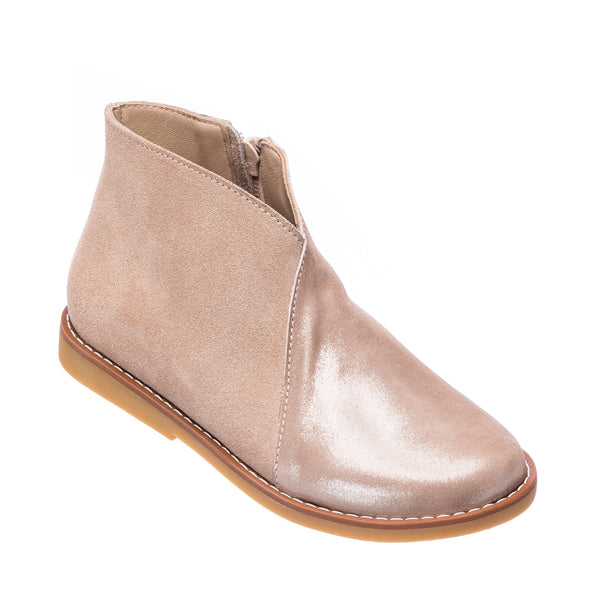 Crossed Bootie Taupe
