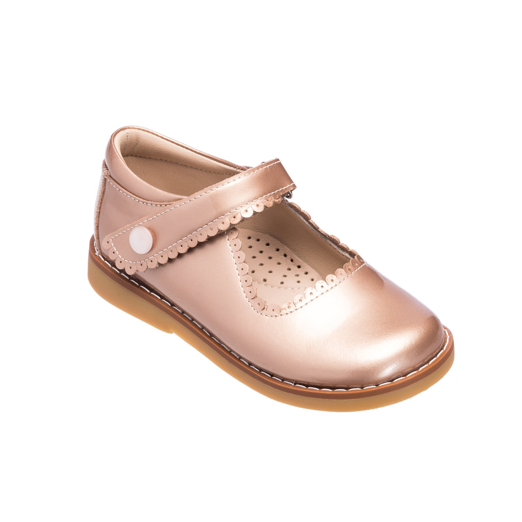 Mary Jane Toddler Rose Gold Patent Leather